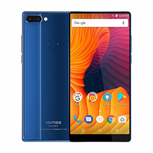 Vernee MIX 2 6.0'' 18:9 FHD Android 7.0 MT6757 Octa Core 4G RAM 64G ROM 4200mA 4G Dual Back Cameras (Blue)