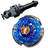 WXL Lots BB-28 Storm Pegasus Metal 4D High Performance Game with Metal Fusion Fight Power Launcher Black + Launcher Grip Set