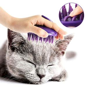 CELEMOON Ultra-Soft Silicone Washable Cat Grooming Shedding Massage/Bath Brush - Safe & No Scratching Any More 5