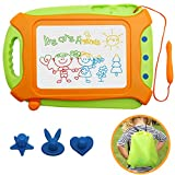 Magnetic Drawing Board for Toddlers,Travel Size Toddlers Toys Colorful Erasable Sketching Etch a Sketch with One Carry Bag Magnet Pen and Three Stampers