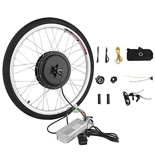 Blackpoolfa E-bike Conversion Kit | 26 inch Front Wheel 36V 500W Electric Bicycle Conversion Motor Kit with Controller and PAS System -Cycling Hub Bike Accessories