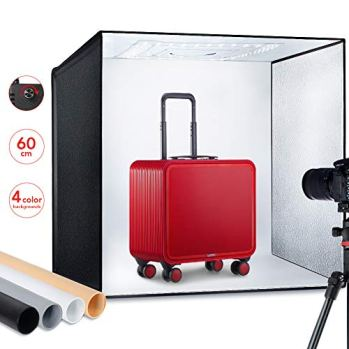 ESDDI-Photo-Studio-Light-Box-2460cm-Adjustable-Brightness-Portable-Folding-Hook-Loop-Professional-Booth-Table-Top-Photography-Lighting-Kit-120-LED-Lights-4-Colors-Backdrops