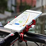 MaxMiles Motorcycle and Bicycle Cell Phone Holder Aluminum Universal Adjustable Phone Mount Smartphone Holder Bike Handlebar Phone Holder for iPhone X 5 6 7 8 Plus Samsung LG (Rotation Black)