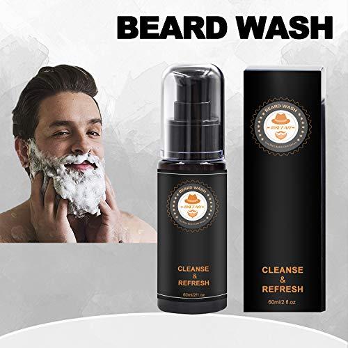 Upgraded Beard Grooming Kit w/Beard Conditioner,Beard Oil,Beard Balm,Beard Brush,Beard Shampoo/Wash,Beard Comb,Beard Scissors,Storage Bag,Beard E-Book,Beard Growth Care Gifts for Men 6