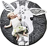 GABWE Round Giraffe Rug Carpet Cotton for Baby Floor Play mats Nursery Kids Room Decoration 35.4 inches