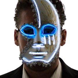 Neon Nightlife Men's Light Up Half Face Venetian Sparkle Mask