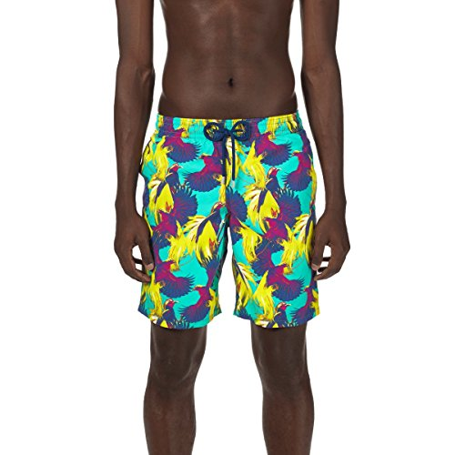 71CQfqL2RNL Long Swimwear Elastic waistband, drawstring, side pockets Back pocket with Velcro flap