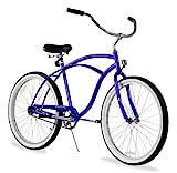 Firmstrong Urban Man Single Speed Beach Cruiser Bicycle, 24-Inch, Royal Blue
