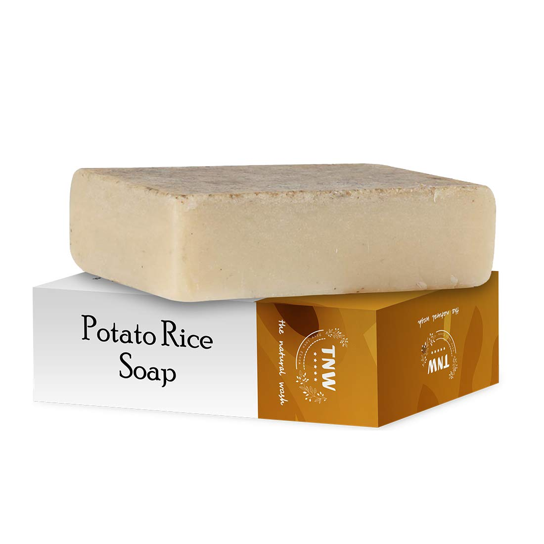 TNW-THE NATURAL WASH - The Natural Wash Handmade Potato Rice Soap For Tanning & Pigmentation For Oily Skin (Paraben/Sulphate/Dye/Silicon Free) - 100 g