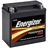 Energizer ETX14L AGM Motorcycle 12V Battery, 200 Cold Cranking Amps and 12 Ahr.  Replaces: YTX14L-BS and others