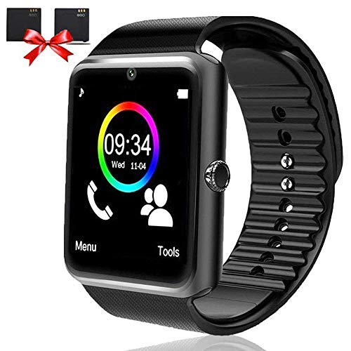 Bluetooth Smart Watch - Smartwatch for Android Phones with SIM Card Slot Camera, Fitness Watch with Sleep Monitor, Pedometer Watch for Men Women Kids Compatible iPhone Samsung LG Motorola Smartphone ...