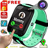[Free SIM Card] Kids Smart Watch Phone Smartwatches - Cellphone Watch HD Touchscreen Anti-Lost SOS Call Girls Boys Voice Chat Remote Camera Flashlight Alarm Clock Digital Wrist Back to School Gifts
