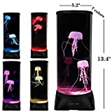 ZgmdaHOME Jellyfish Lamp,Large Electric Jellyfish Aquarium,Jellyfish Tank Mood Light with 7 Alternating Colors, Perfect as Kid's Night Lamps or Decorative Lamps for Couples or Households.