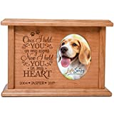 Cremation Urns for Pets SMALL Memorial Keepsake box for Dogs and Cats, personalized Urn for pet ashes Once I held YOU in my arms Now I hold YOU in my HEART SMALL portion of ashes holds 2x3 phot
