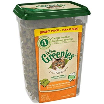 FELINE-GREENIES-Dental-Treats-For-Cats-Oven-Roasted-Chicken-Flavor-11-Ounces