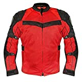Xelement XS8161 'All Season' Men's Black/Red Tri-Tex/Mesh Jacket - 2X-Large
