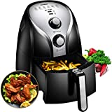 Comfee1500W Multi-Function Electric Hot Air Fryer with 2.6 Qt. Removable Dishwasher Safe Basket(Black)