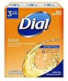 Dial Antibacterial Deodorant Soap, Gold, 3 Count