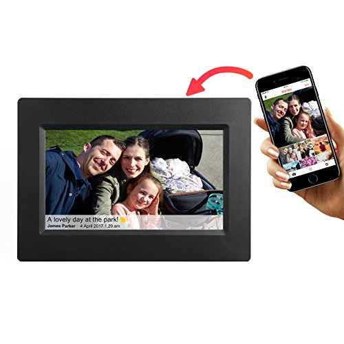 Feelcare Smart WiFi Digital Picture Frame with Touch Screen, IPS LCD Panel, Built in 8GB Memory, Wall-Mountable, Portrait&Landscape, Instantly Sharing Moments