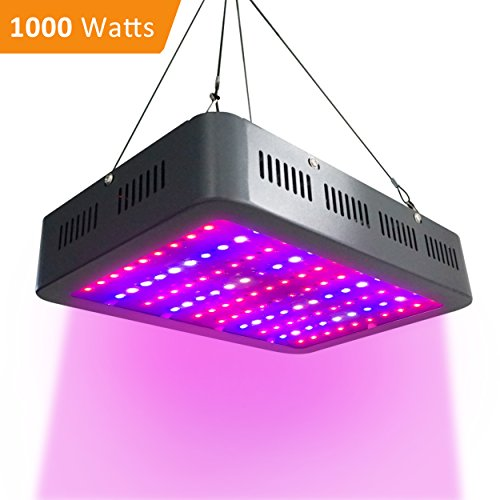 AUTOGEN 1000w LED Grow Light Double Chips Full Spectrum 2 Switches Control Veg Flower All Phases with UV and IR for Greenhouse Indoor Plant