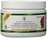 Pinnacle of Wellness Natural Green Energy Powder – Grape Flavor – 30 Servings – 5.4oz (150g) – With Pure Green Coffee Bean Extract 800mg - Green Tea Leaf – Asian Ginseng Root & Guaraná Seed - Vitamin C - B6 & B12 - Sugar Free Drink Mix