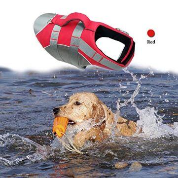 BOCHO-Wave-Riders-Reflective-Dog-LifeJacket-Super-Buoyancy-EVA-Lining-Adjustable-Dog-Safety-Vest-Small-Red