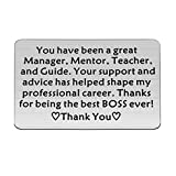FUSTMW Mentor Gift Boss Appreciation Gift Mentor Keychain Thank You Gifts for Guidance and Inspiration Coworker Leaving Gifts (Boss Wallet Insert)