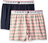 Tommy Hilfiger Men's Underwear Modern Essentials Knit Boxers, Petal/Stripes, Small