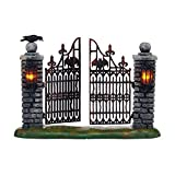 Department 56 Halloween Village Spooky Wrought Iron Gate Accessory Figurine, 4.53 inch