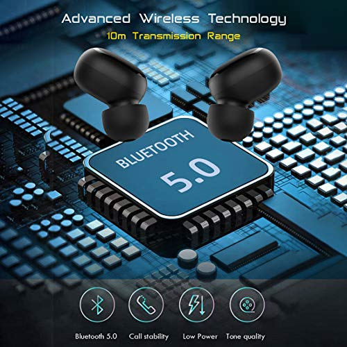 PTron Bassbuds Pro in-Ear True Wireless Bluetooth Headphones (TWS) with Mic - (Black) 6