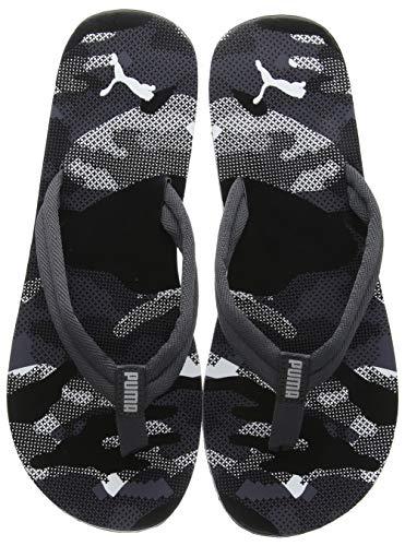 Puma Unisex Adults' Epic V2 Camo Flip Flops, Black (Puma Black-Asphalt 1), 10 UK