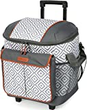 Arctic Zone 44-81453-00-08 Hot/Cold Insulated Rolling Tote, 44 Can Capacity, Diamond Mosaic - Gray/White