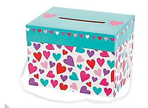 Valentine's Day Card Boxes - 1 Dozen, Heart Designs, Girl's