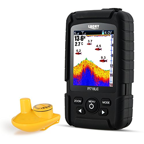 LUCKY Portable Fish Finder for Recreational Fishing from Dock, Shore or Bank