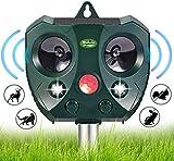 Solar Ultrasonic animal Repellent - Waterproof Fence Deer Away Repeller for trees, Solar Powered Motion Sensor Activated Rodent Repeller, Deterrent for Squirrel, Cat, Dog, Rabbit, Skunk