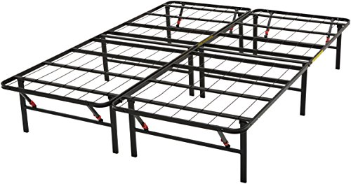 AmazonBasics Foldable Platform Bed Frame - Tool-Free Assembly - Under-Bed Storage -Queen