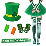 Garma 7 Pack St. Patrick's Day Costume Set Women Irish Day Saint Patrick's Day Celebration Outfit Attire Accessories