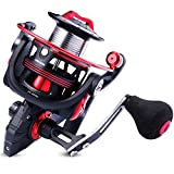 One Bass Fishing reels Light Weight Saltwater Spinning Reel - 39.5 LB Carbon Fiber Drag,12+1 BB Ultra Smooth All Aluminum Inshore Reel for Saltwater or Freshwater-R-Spider DL 1000