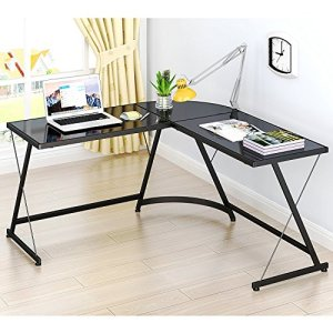 LeCrozz L-Shaped Home Office Corner Desk