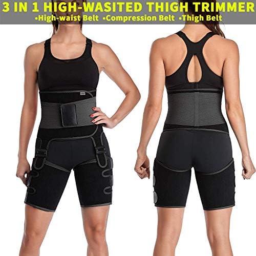 DAWNDEW Waist Trainer for Women, 3-in-1 Waist and Thigh Trimmer Butt Lifter-Weight Loss Slimming Body Shaper Belt, Adjustable Hip Enhancer, Hips Belt Trimmer Body Shaper Workout Fitness Training 7