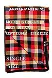 Shri krishan kripa handloom Cotton Mattress Cover for Single Bed with Zip(Multicolour, 78x36x4-inches)