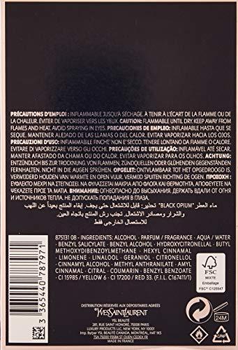 Yves Saint Laurent Eau De Parfum Spray for Women, Black Opium, 3 Ounce 3