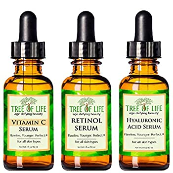 Top Rated Anti Aging Serum Combo Pack! 3 PROVEN REASONS To Purchase Our Anti Wrinkle Serum Combo Pack Today! - Vitamin C Serum: THE HIGHEST FORM OF ACTIVE, BIO-AVAILABLE VITAMIN C AVAILABLE.You will be hard-pressed to find another Vitamin C Se...