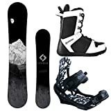 System MTN and APX Complete Men's Snowboard Package (156 cm, Boot Size 10)