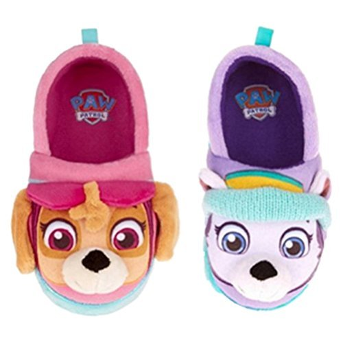 Nickelodeon Paw Patrol Toddler Girls Slippers Skye Everest (Small / 5-6)