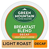 Green Mountain Coffee Roasters Breakfast Blend Decaf, Single Serve Coffee K-Cup Pod, Light Roast, 32