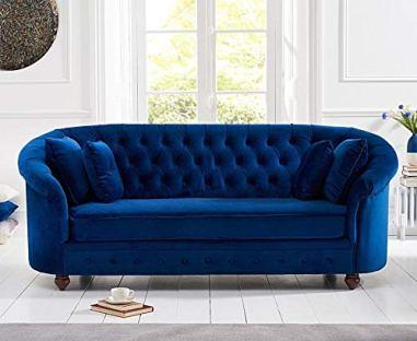 faux-wicker sofa