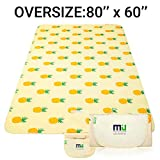 MIU COLOR Extra Large Outdoor Picnic Blanket Travel Blanket, Waterproof and Sandproof Picnic Mat for Camping Hiking Grass Travelling(80' x 60')
