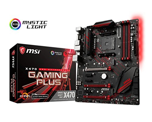 MSI-Performance-Gaming-AMD-X470-Ryzen-2-AM4-DDR4-Onboard-Graphics-CFX-ATX-Motherboard-X470-Gaming-Plus