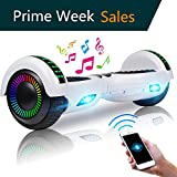UNI-SUN 6.5' Hoverboard for Kids, Two Wheel Electric Scooter, Self Balancing Hoverboard with Bluetooth and LED Lights for Adults, UL 2272 Certified Hover Board